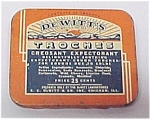 Click here to enlarge image and see more about item 76558: DeWitt's Troches Tin Creosant Expectorant Cough Drop