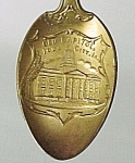 Click to view larger image of Vintage Iowa City IA Old Capital Bldg Souvenir Spoon (Image1)