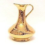 Click here to enlarge image and see more about item 76741: Vallona Starr Weeping Gold Pitcher Vase California Art