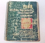 1968 Sentinel Car Service Manual SHELL OIL Company Book