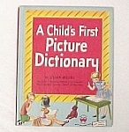Click here to enlarge image and see more about item 77431: A Child's First Picture Dictionary - 1948 Wonder Book