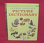 Click here to enlarge image and see more about item 77437: 1959 Little Golden Book LGB Picture Dictionary School