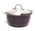 Click here to enlarge image and see more about item 77947: Vintage Child's Aluminum Dishes Cooking Pot Pan Kettle