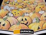 Click here to enlarge image and see more about item 78207: Duracell 1993 Battery Glow in the Dark Halloween Poster