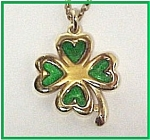 Spiedel Shamrock Pendant Necklace St Patrick's Day Jewelry