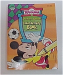 Click here to enlarge image and see more about item 78458: Disney's MICKEY MOUSE Colossal Color Activity Book NEW