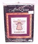 Click here to enlarge image and see more about item 79502: Alma Lynne Counted Cross Stitch Kit Angel UnAwares