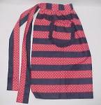 Click here to enlarge image and see more about item 79762: Retro Cotton Apron Red White Vintage 1950s 50s Style