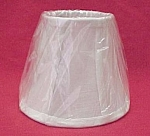 Off-White Linen Fabric Bell Chandelier Lamp Shade 3.5X6X5H