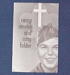 Click here to enlarge image and see more about item 80006: Boy Scout Camp Service & Song Folder Religious Hymns