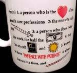 Click to view larger image of Nurse China Porcelain Coffee Mug Cup Stethoscope (Image4)