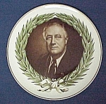 Click here to enlarge image and see more about item 81817: President Roosevelt Plate Maastricht Petrous Regout