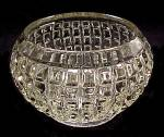 Click here to enlarge image and see more about item 82013: VICTORIAN Pattern Rose Bowl Vase Depression Glass