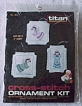Click to view larger image of Kit of 3 1985 Cross Stitch Angel Christmas Ornaments (Image1)