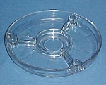 Centerpiece Console 3 Candle Holders Clear Glass 4 prt