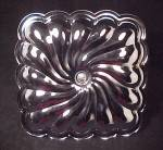 Click to view larger image of Square Swirled Chrome Center Handle Tidbit Tray Vintage (Image4)