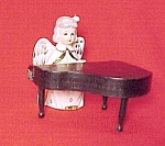 Click here to enlarge image and see more about item 82609: Angel Figurine Playing a Grand Piano S R Made in Japan