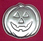 Click here to enlarge image and see more about item 82757: 1981 Wilton Cake Pan Halloween Pumpkin JACK-O-LANTERN