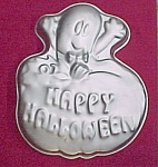 Click here to enlarge image and see more about item 82762: Amscan Happy Halloween Cake Decorating Pan Mold Ghost