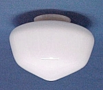 Click here to enlarge image and see more about item 82790: Milk Glass Schoolhouse Ceiling Fan Light Globe Shade