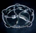 Click to view larger image of Relish Dish 5 Part Imperial Candlewick Clear Glass STEM #3400 Vintage  (Image3)