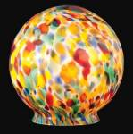 Click to view larger image of Lamp Shade Globe Glass Art Deco Figural Radio Table Light Pendant Swag (Image2)