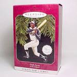 Click here to enlarge image and see more about item 83261: 1997 Hank Aaron Baseball Hallmark Christmas Ornament