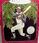 Click to view larger image of 1997 Hank Aaron Baseball Hallmark Christmas Ornament (Image2)