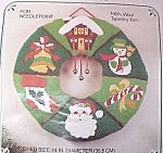 Click here to enlarge image and see more about item 83274: WonderArt Needlepoint Christmas Wreath Stitchery Kit