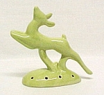 Click here to enlarge image and see more about item 83655-1: California Pottery Leaping Gazelle Planter Flower Frog