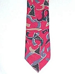 Wembly Red Holiday Necktie Tie Christmas Tree & Ribbons