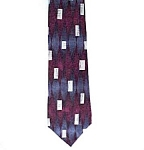 Click here to enlarge image and see more about item 83683: Facets Geometric Abstract Art Deco 100% Silk Necktie Tie