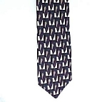 Click to view larger image of Pertini Silk Necktie Tie ART DECO Geometric ABSTRACT (Image1)