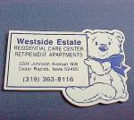 Westside Estate Cedar Rapids Iowa IA Advertising Magnet