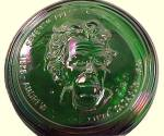 Click to view larger image of Wheaton Green Carnival Glass Bottle Andrew Jackson Decanter 1971 (Image4)