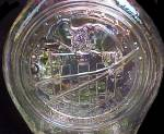 Click to view larger image of Wheaton Clear Carnival Glass Bottle Apollo 16 Vintage (Image3)