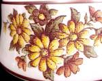 Click to view larger image of Floral NeedlePoint 7 in Student Lamp Shade Milk Glass Desk Table  (Image3)