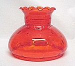 Click here to enlarge image and see more about item 83928: Tangerine Orange Glass Student Table Lamp SHADE Globe