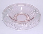 Pink Depression Glass Roll Rim Wheel Cut Console Bowl