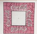 Click here to enlarge image and see more about item 86270A: Coca-Cola Coke Ceiling Light Glass Lamp Shade 14 X 14 AS IS