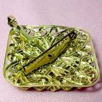 Click to view larger image of Mother of Pearl MOP Pin Brooch Pendant Ornate Germany (Image2)