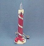Click here to enlarge image and see more about item 86393: 14 inch Electric Lighted Christmas Candle Vintage 1940s