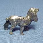Click to view larger image of Metal Dog Miniature Figurine Animal Figure  Setter  (Image2)