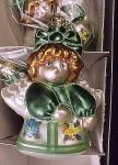 Click to view larger image of Box of 6 Cherry Designs Blown Glass Christmas Tree Angel Ornaments (Image4)