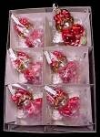 Click to view larger image of Set of 6 Cherry Basket Angel Blown Glass Christmas Ornaments (Image4)