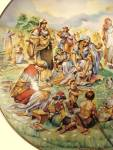 Click to view larger image of Vintage 1980 China Collector Plate Manna from Heaven (Image3)