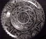 Click to view larger image of 3 Westmoreland Glass Cup Plate Henry Clay Wedding Eagle (Image2)