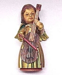 Click here to enlarge image and see more about item 90026: ANRI Gold Gilt Angel 3 1/2 inch Figurine w/ Cello