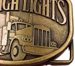 Click to view larger image of Raleigh Lights Cigarette Brass Belt Buckle Semi Truck (Image2)
