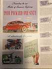 Six Packard automobile ads from 1940s and 1950s